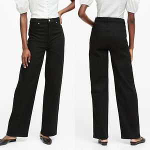 Banana Republic Petite High-Rise Wide-Leg Jean
